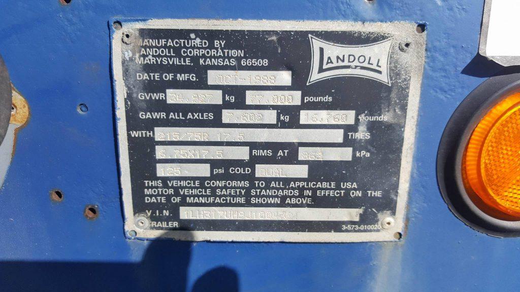 AUTRE: LANDOLL 318 1988 48 PIEDS