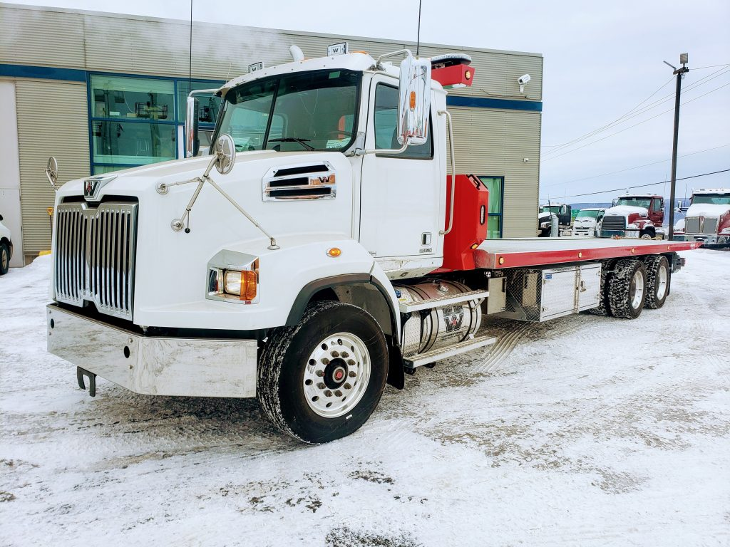 DEMO PLATE-FORME 10 ROUES REKA 40AC28-DMD-GALV SUR WESTERN STAR 4700 LOPRO 2020